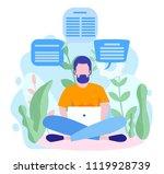 concept blog content  blogging  ... | Shutterstock .eps vector #1119928739