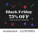 black friday sale banner design ... | Shutterstock .eps vector #1119929831