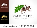 oak tree logo. acorn vector. | Shutterstock .eps vector #1119932534