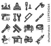 black construction tools icon... | Shutterstock .eps vector #1119934064