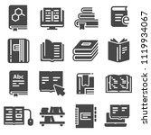 books icons and signs set on... | Shutterstock .eps vector #1119934067