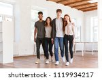 image of young cheerful friends ... | Shutterstock . vector #1119934217