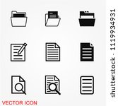 file icon vector | Shutterstock .eps vector #1119934931
