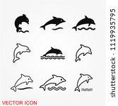 dolphin vector icon | Shutterstock .eps vector #1119935795