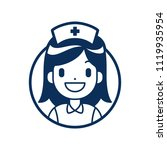 nurse icon medical and health...