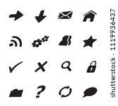 black icons for web. vector set ... | Shutterstock .eps vector #1119936437