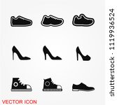 shoes icon vector | Shutterstock .eps vector #1119936524