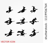 halloween witch icon vector   Shutterstock .eps vector #1119936764