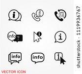 info icon vector | Shutterstock .eps vector #1119936767