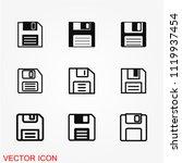 floppy disk icon | Shutterstock .eps vector #1119937454