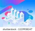 big data flow processing. high... | Shutterstock .eps vector #1119938147