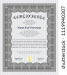 grey sample certificate. beauty ... | Shutterstock .eps vector #1119940307