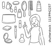 vector set of woman and... | Shutterstock .eps vector #1119942257
