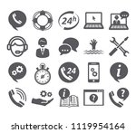 support service icons | Shutterstock . vector #1119954164