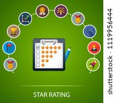 star rating flat icons concept. ... | Shutterstock .eps vector #1119956444