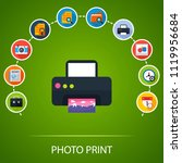 photo print flat icons concept. ... | Shutterstock .eps vector #1119956684