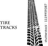 vector tire track background... | Shutterstock .eps vector #1119959387