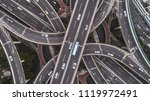 aerial view of highway and... | Shutterstock . vector #1119972491