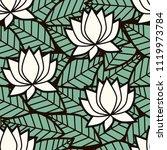 leaves  lotus flowers  water... | Shutterstock .eps vector #1119973784