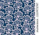 leaves  lotus flowers  water...   Shutterstock .eps vector #1119973787