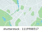 abstract flat map of city. plan ... | Shutterstock .eps vector #1119988517