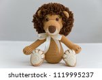 beautiful soft lion stuffed toy ... | Shutterstock . vector #1119995237