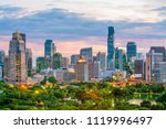 bangkok city skyline with... | Shutterstock . vector #1119996497