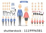 old couple characters set with... | Shutterstock .eps vector #1119996581