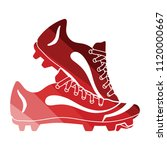 baseball boot icon. flat color... | Shutterstock .eps vector #1120000667