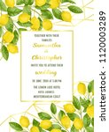 luxury wedding invitation card... | Shutterstock .eps vector #1120003289
