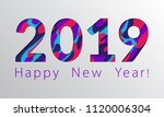 2019 happy new year greeting... | Shutterstock .eps vector #1120006304