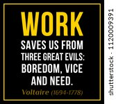 vectors quote. work saves us... | Shutterstock .eps vector #1120009391