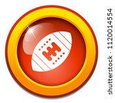 vector american football ball... | Shutterstock .eps vector #1120014554