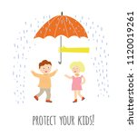 protect your children concept... | Shutterstock .eps vector #1120019261