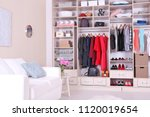 modern wardrobe with stylish... | Shutterstock . vector #1120019654