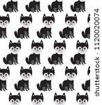 seamless pattern kawaii funny...   Shutterstock .eps vector #1120020074