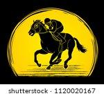 horse racing  jockey riding... | Shutterstock .eps vector #1120020167