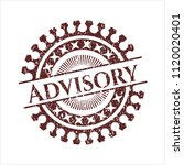 red advisory with rubber seal... | Shutterstock .eps vector #1120020401