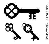 vector medieval key symbols | Shutterstock .eps vector #112002044