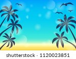 layout of a banner with... | Shutterstock .eps vector #1120023851