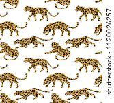 seamless exotic pattern with... | Shutterstock .eps vector #1120026257