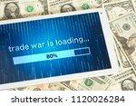 dollar bills  tablet pc and...   Shutterstock . vector #1120026284