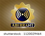 gold shiny emblem with signal... | Shutterstock .eps vector #1120029464