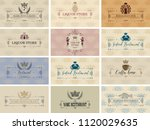 vector set of business cards on ...   Shutterstock .eps vector #1120029635