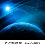 earth with rising sun | Shutterstock . vector #112003091
