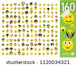 large set of quality emoticons...   Shutterstock .eps vector #1120034321