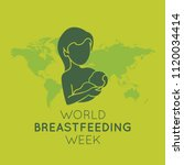 world breastfeeding week vector ... | Shutterstock .eps vector #1120034414