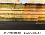 wooden timber plank grunge... | Shutterstock . vector #1120035164