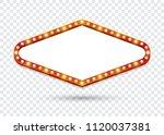 electric bulbs billboard. empty ... | Shutterstock .eps vector #1120037381