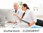 doctors attending conference in ... | Shutterstock . vector #1120038947
